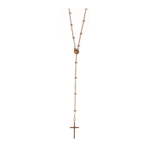 Naszyjnik różaniec pozłacany 90 cm Ami Bijoux