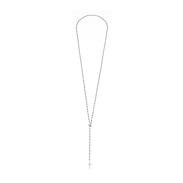 Różaniec ze spinela z elementami ze srebra 925 Ami Bijoux