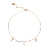 Choker pozłacany z krzyżami i białymi cyrkoniami Ami Bijoux