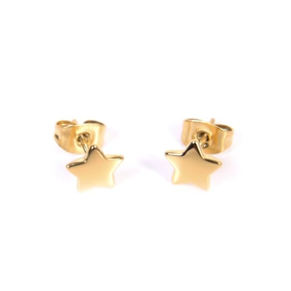 Złote kolczyki gwiazki Ami Bijoux
