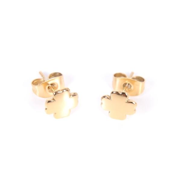Złote kolczyki koniczynki Ami Bijoux
