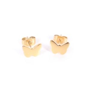 Złote kolczyki motylki Ami Bijoux