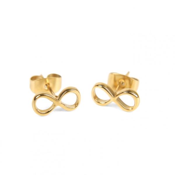 Złote kolczyki nieskończoność Ami Bijoux