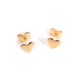 Złote kolczyki serduszka Ami Bijoux