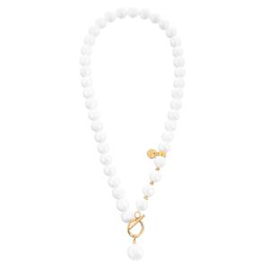 Naszyjnik z pereł z zawieszką perłą